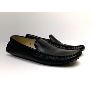 Tods Gommino Black Leather Driving Shoes Womens 9